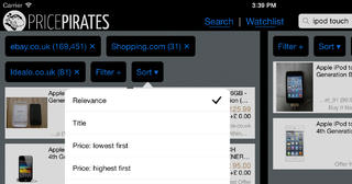 Cropped screenshot showing the iPad user interface