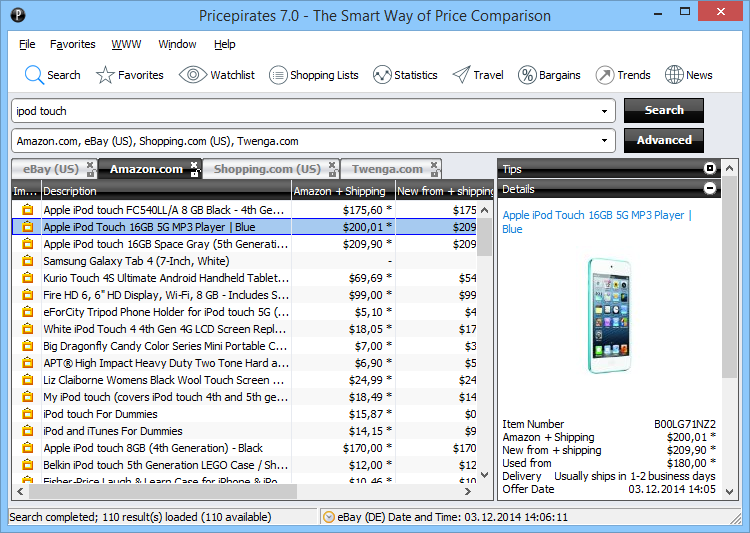 Click to view Pricepirates 7.3.0.0 screenshot